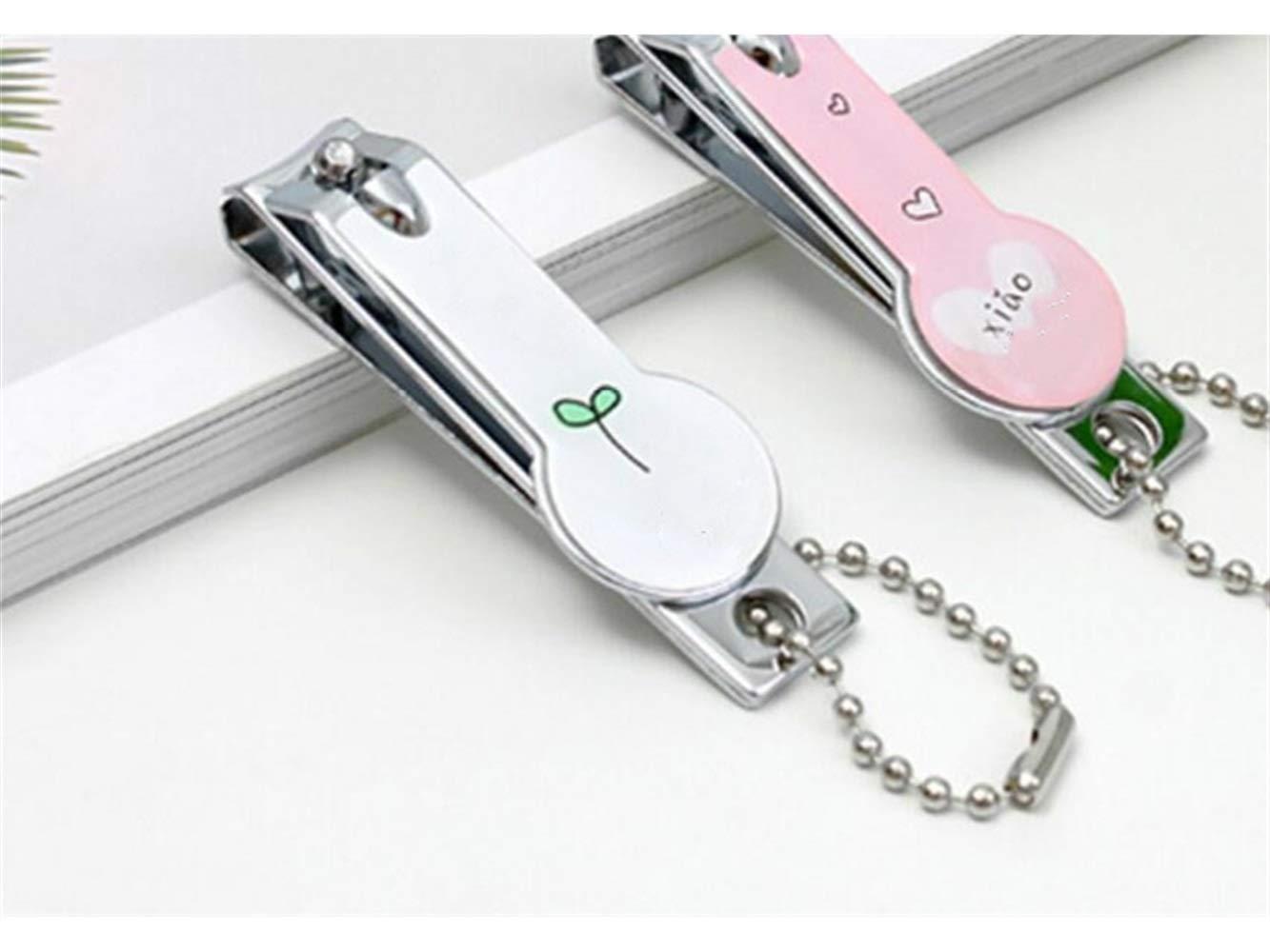 Colore : Pink, Dimensione : 5.7x1.9cm Attrezzo per Manicure Pieghevole in Acciaio Inossidabile Strumento per tagliaunghie Carino