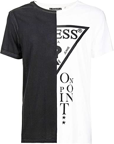 Guess Cross out tee S/S RN-M63I79I3Z00 Camiseta térmica, Blanco (A009 Optic White), S para Hombre: Amazon.es: Ropa y accesorios