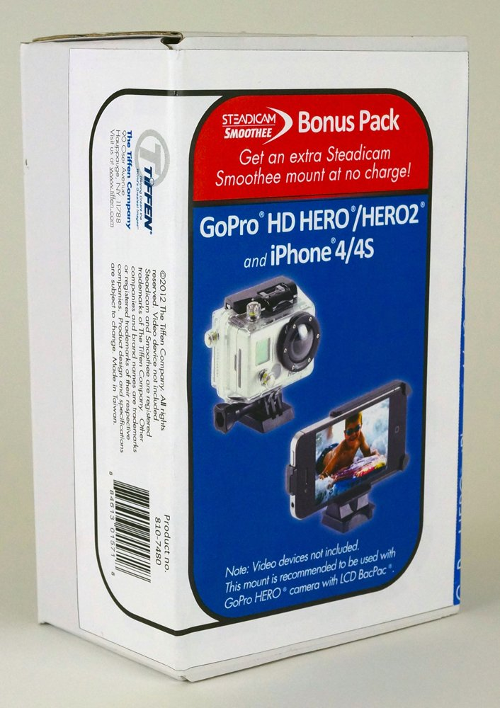 reputable site 61bbc 95786 Steadicam Smoothee with iPhone 4/4S Mount and bonus GoPro HD Hero/Hero2  Mount (2 mounts total)