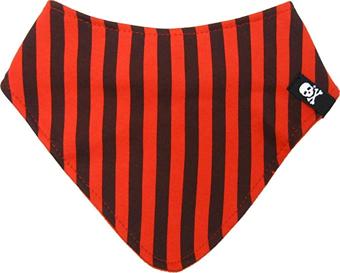 3317b5975c3 Image Unavailable. Image not available for. Color  Black and Red Striped  Bandana Bib from Sourpuss Clothing
