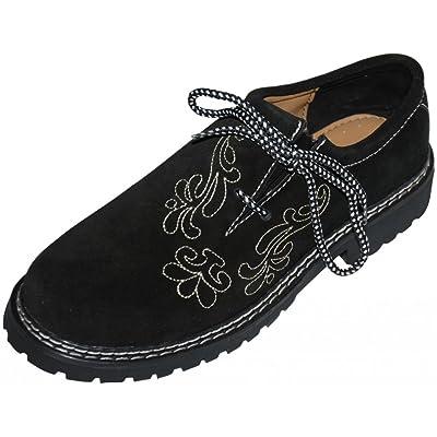 Dirndl Trachten Haus Leather German Embroidered Oktoberfest Lederhosen Haferl Shoe Black | Shoes