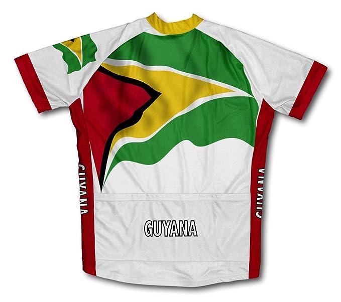 Amazon.com: Guyana Bandera de manga corta ciclismo Jersey ...