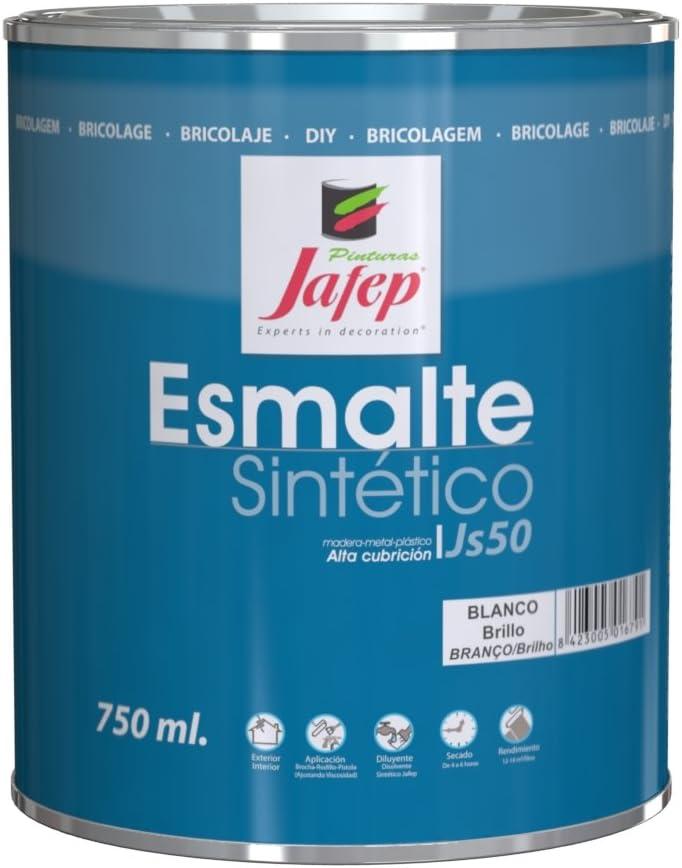 Jafep 35300131 Esmalte sintético, Blanco, 750 ml