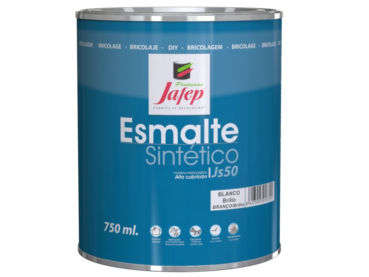 Jafep 35170131 Esmalte sinté tico, Negro, 750 ML Pinturas Jafep