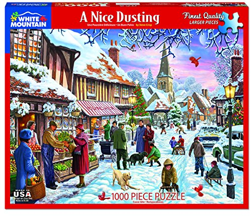 White Mountain Puzzles A Nice Dusting - 1000 Piece Jigsaw (Nice Crisp)