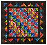 Easy Quilt Kit Brilliant Diamond Batiks/EXPEDITED SHIPPING/QUEEN