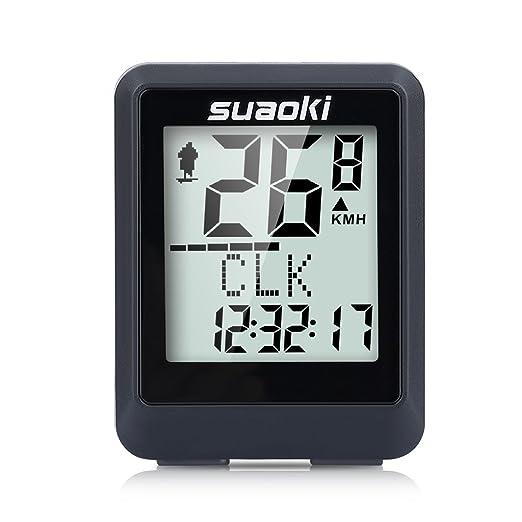 111 opinioni per Suaoki BKV-9500 Contachilometri Bici Wireless Impermeabile con Display