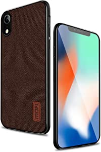 Mofi Compatible with iPhone xr Case,Shock-Absorbing Fabric Covers with Silicone Soft Edges and Great Grip, Fully-Protective and Compatible with Apple iPhone xr(Brown)
