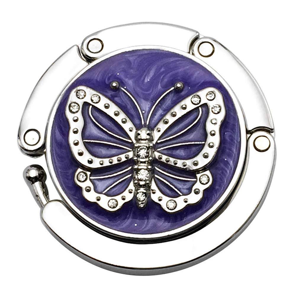Mini Butterfly Beetle Folding Hanger Holder Table Hook for Purse Handbag Utility