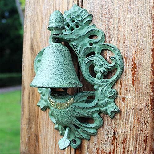 アンティークドアベル ドアのベルはベルようこそログイン装飾ヴィンテージブロンズドアベルウォールアートデコレーションハンギングアイアンウォールキャスト 鋳鉄の装飾的なドアベル (Color : Bronze, Size : 23.5X9X7.5CM)