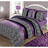 Your Zone Purple Pieced Animal Bedding Comforter Set (Twin)