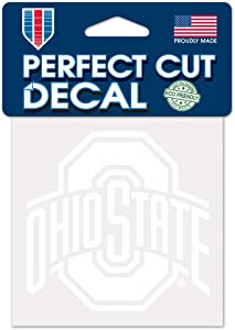 WinCraft NCAA Ohio State Buckeyes 4x4 Perfect Cut White Decal, One Size, Team Color