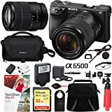 Sony Alpha a6500 Mirrorless Digital Camera 24.2MP (Black) Body Only ILCE-6500/B with Extra Battery Case 32GB Memory Card Deluxe Pro Bundle (18-135 Bundle)