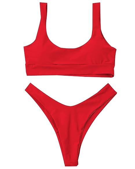 Amazon.com: ZAFUL traje de baño de dos piezas para mujer ...