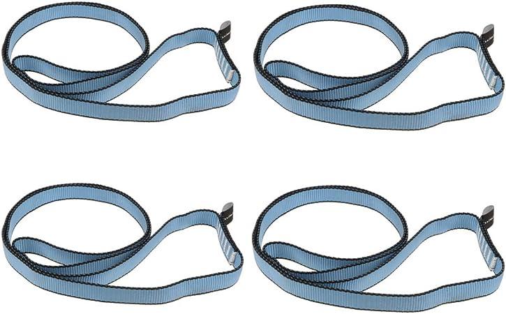 4pcs Rock Climbing Safety Strap Sling Cord Lanyard Webbing Strap for