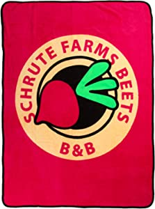 The Office Schrute Farms Beets B&B Throw Blanket