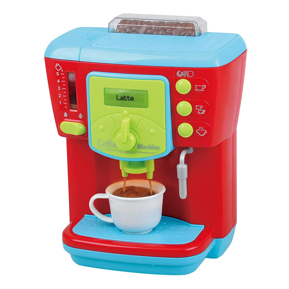 PlayGo Delicious Coffee Maker Machine Kids Children Pretend Play Activity Maker Toy - Kitchen Gifts Toys Set by PlayGo