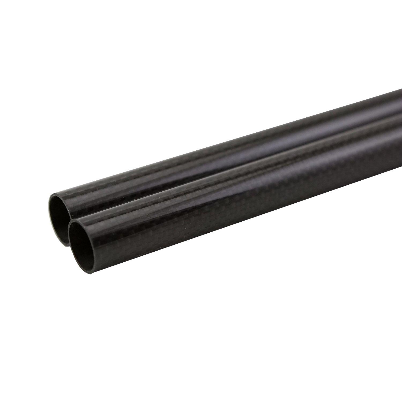 SHINA 3K rouleau enveloppé 12mm fibre de carbone tube 10mm x 12mm x 500mm brillant pour RC Quad 2X3KTXWG-PL-12-10-ES