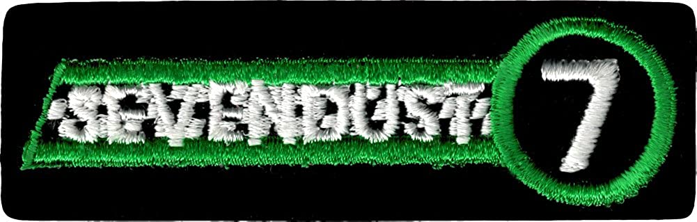 Sevendust - Green, Black & White Logo with 7 - Embroidered Iron On or Sew On Patch