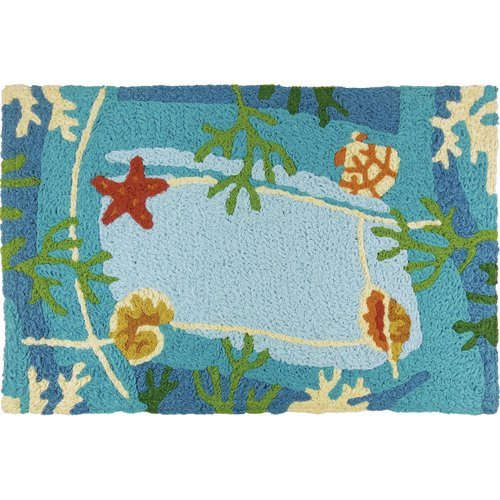 OKSLO Highland Dunes Caresse Underwater Coral and Starfish Doormat from OKSLO