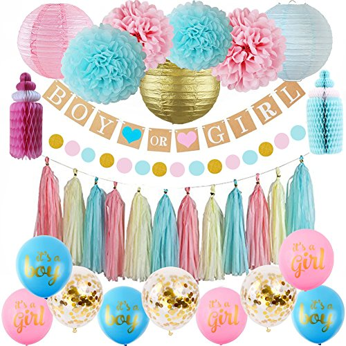 Sorive Gender Reveal Party Supplies - Gender Reveal - Gender Reveal Decorations - Gender Reveal Party - Boy or -