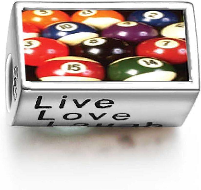 Juego de bolas de billar diseño de letras Live Love Laugh cuenta ...