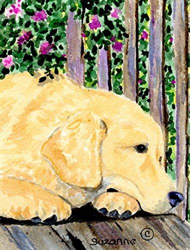 Caroline's Treasures SS8756CHF Golden Retriever Flag Canvas, Large, (Canvas Retriever)