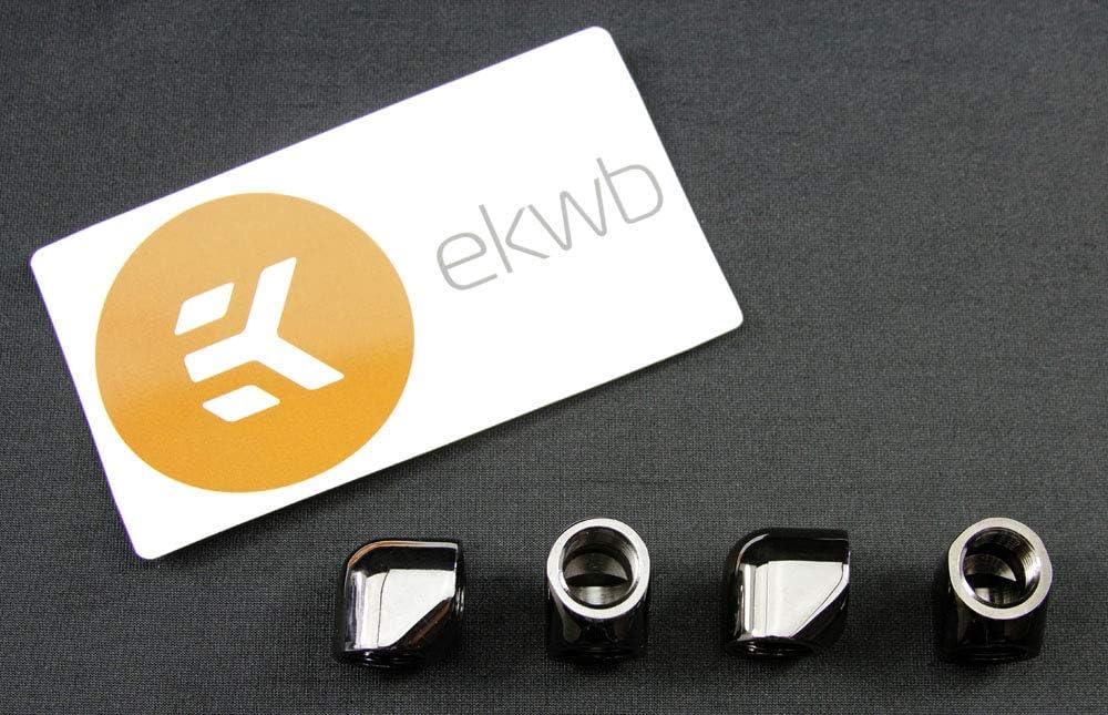 EK-AF Angled 90° 2F G1/4 - Black Nickel 4 Pack