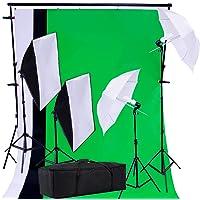 PRO SYSTEM AUDIOTEK Kit Set Fotográfico Estudio Profesional Fotografía Video Sombrillas Softbox Lamparas Iluminación Excelente Calidad