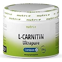 L-KARNITIN - rent L-karnitintartrat, ultrarent pulver 250 g från Lonza - 3000 mg karnitinpulver per portion utan…