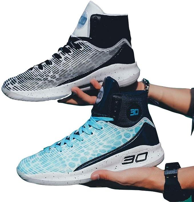 Zapatos de Baloncesto Zapatos de Entrenamiento de caña Alta para Hombres Zapatos Deportivos para Adultos jóvenes Botas Antideslizantes Resistentes Botas Antideslizantes Mens Basketball Shoes,A,37: Amazon.es: Hogar