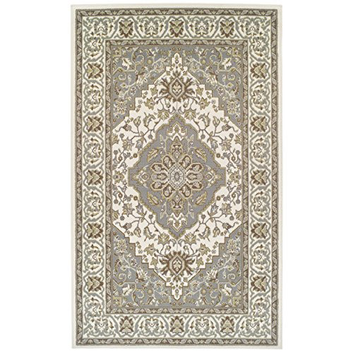 SUPERIOR Glendale Collection Area Rug – Traditional Brown Oriental Rug, 8 mm Pile, Jute Backing Floor Rug, Green, 5′ x 8…