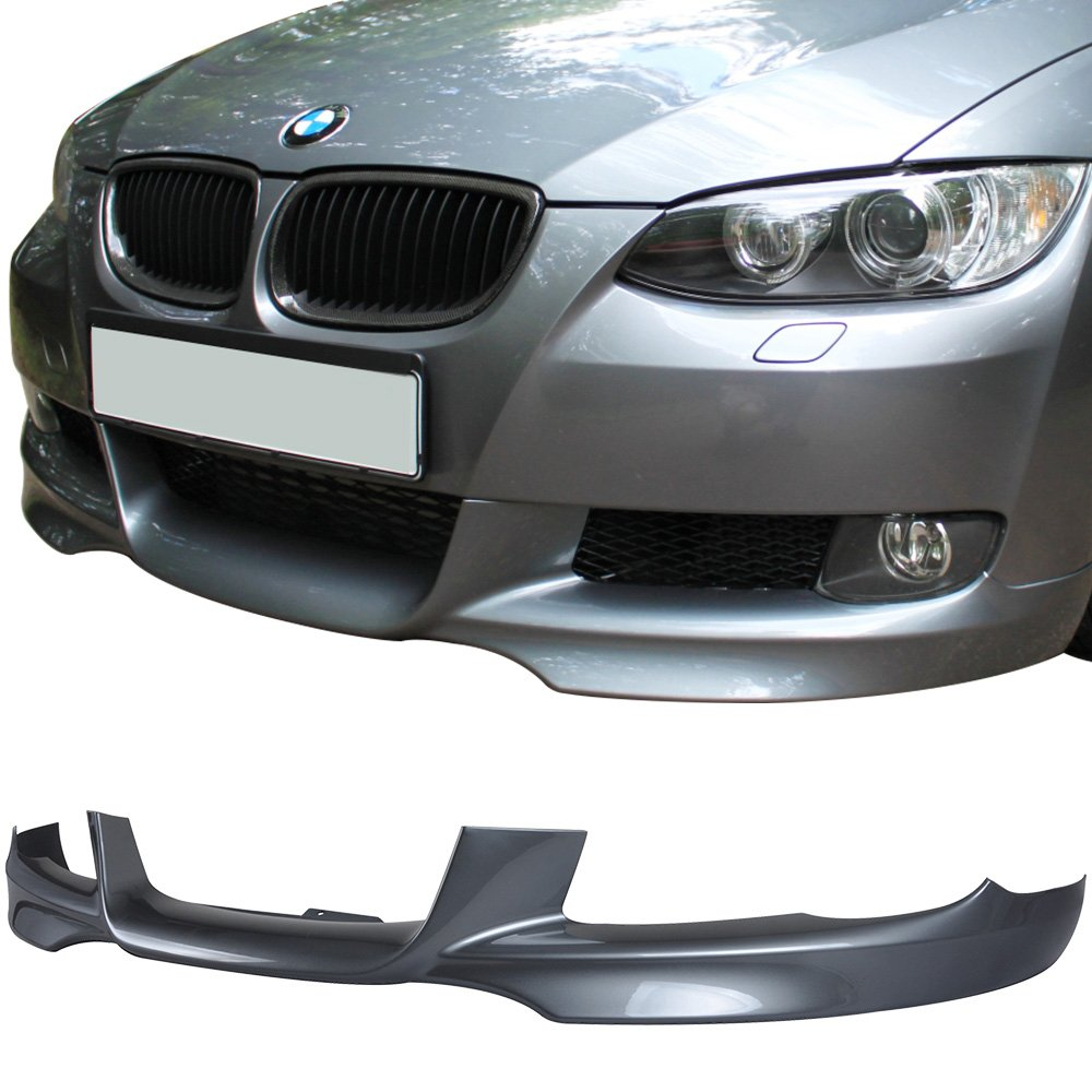 Pre-painted Front Bumper Lip Fits 2007-2010 BMW E92 E93 3 Series | M-Tech Style Painted Space Gray Metallic #A52 PP Air Dam Chin Protector Front Bumper Lip other color available by IKON MOTORSPORTS