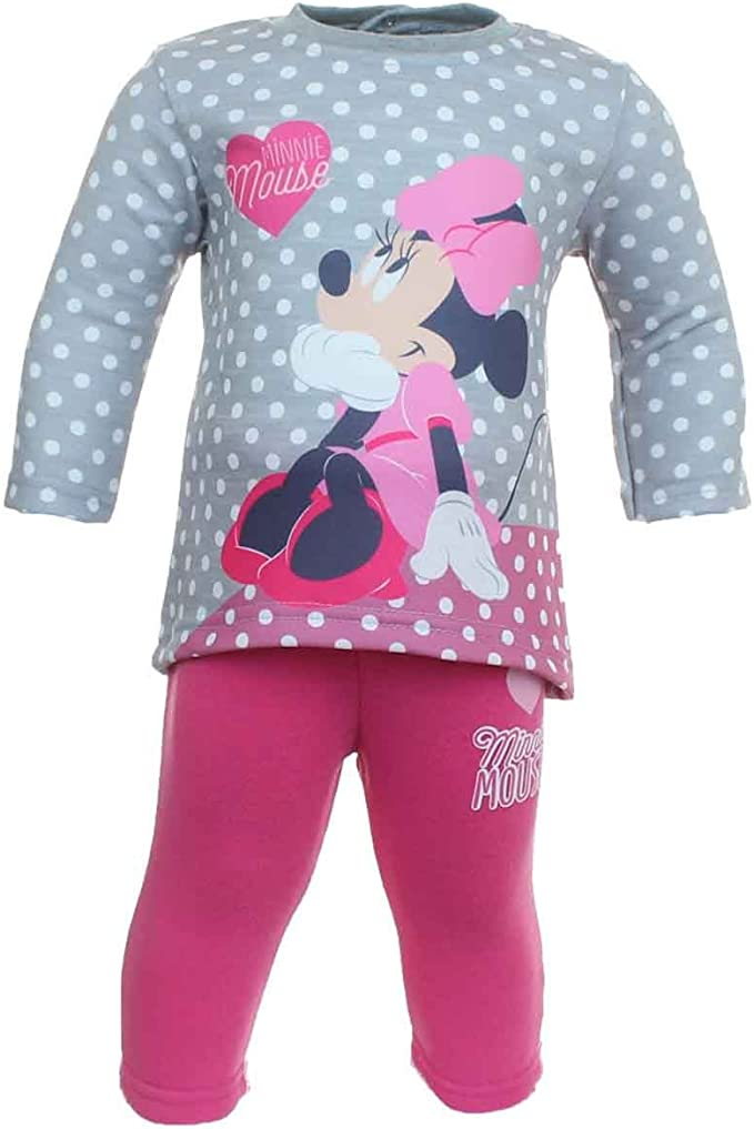 Minnie Mouse Juntos Chándal Mangas largas Bebé Niñas: Amazon ...
