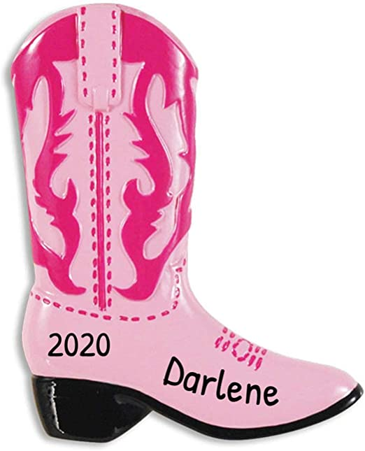 North West Halloween Costume 2020 Amazon.com: Personalized Cowboy Pink Boots Christmas Tree Ornament
