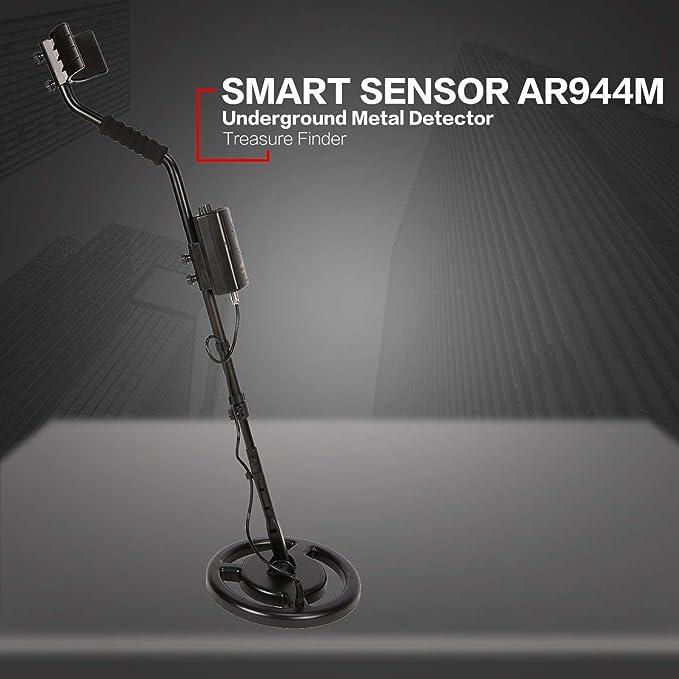 SMART SENSOR AR944M Detector de metales subterráneo profesional Buscador de plata dorado ajustable Buscador de tesoros Buscador de 1.8m de profundidad: ...