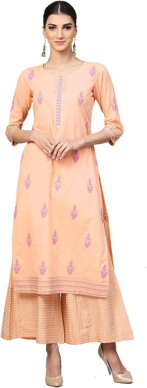 Ethnic Straight Blue Ladies Kurti with Printed pattern Indian Kurti Rayon Kurti Dress Designer Dress Women dress