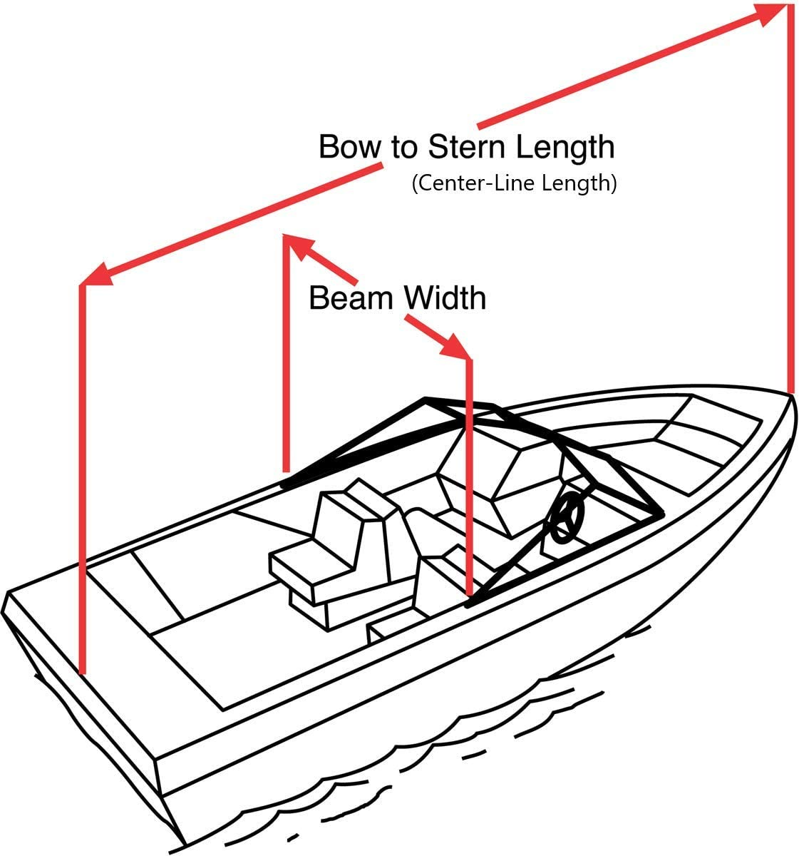 Taylor Made Products Trailerite Semi-Custom Boat Cover for Jon Boats wtih Outboard Motor