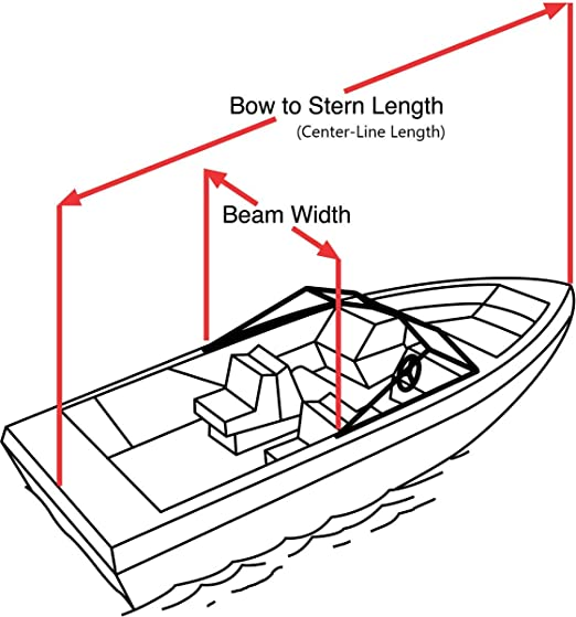 Trailerite Semi-Custom Boat Cover for Walk-Around Cuddy Cabin Boats with Outboard Motor Motor Hood not Included