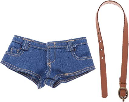 """1//6 Female Figure Doll Clothes Handmade Jeans Shorts for 12/"""" Action Figures Body"""
