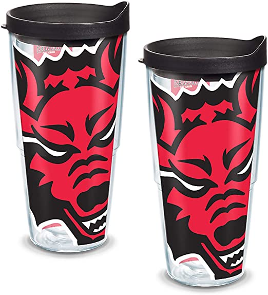Tervis 1221300 Texas Tech Red Raiders College Pride Tumbler with Wrap and Red Lid 24oz Clear