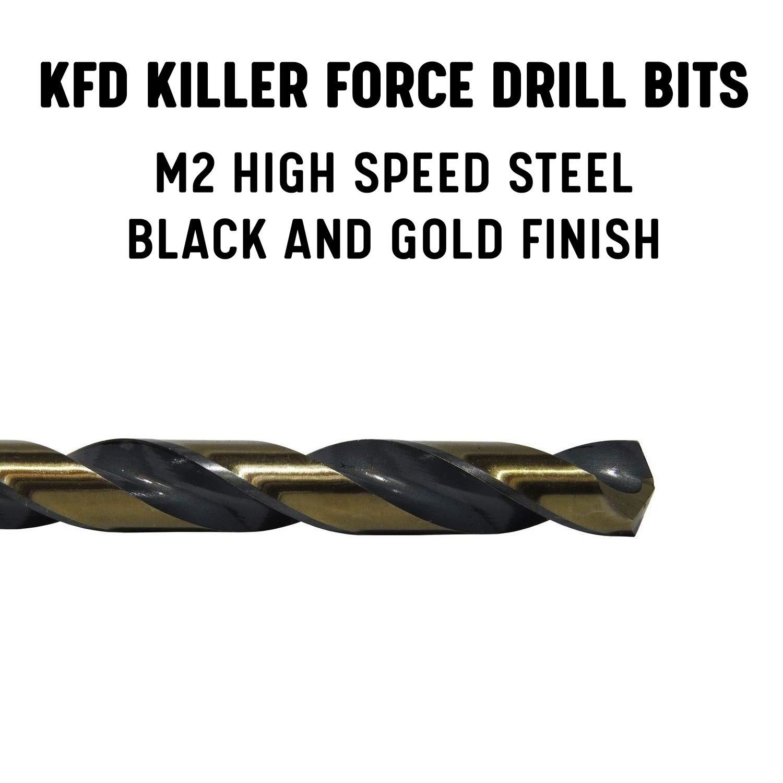Size: 27//64 HSS Split Point Killer Force Set of 2 Mechanic Length Drill Bit KFD