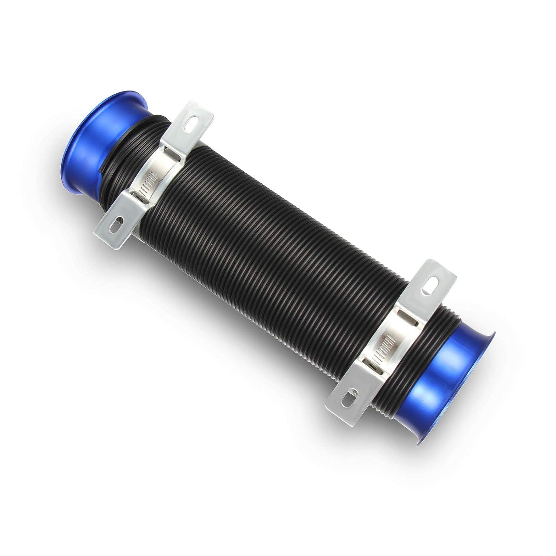 oranges Autoparts 7,6/cm universel de 76/mm dadmission dair froid Flexible extensible Tuyau dinduction kit de tuyaux en bleu Noir