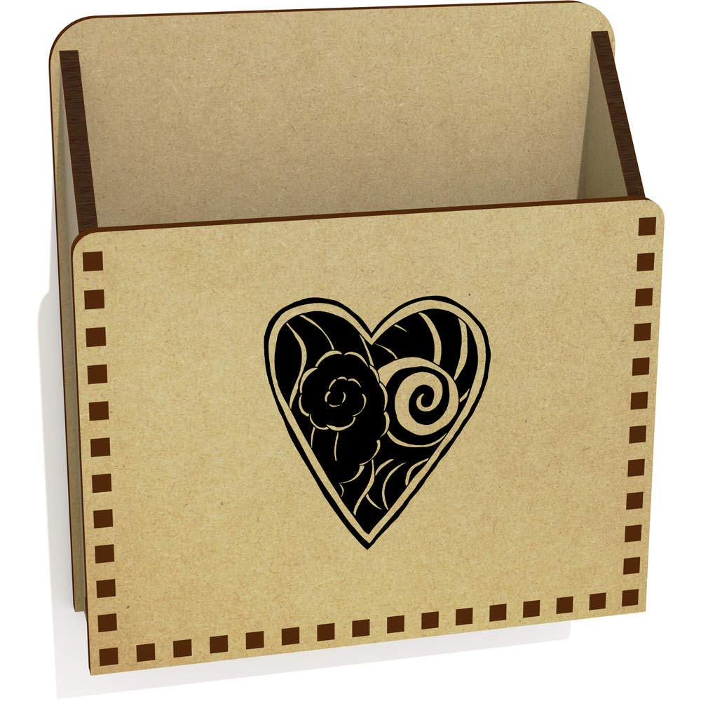 Corazón del Tatuaje De Madera Carta Poseedor / Caja (LH00039078 ...