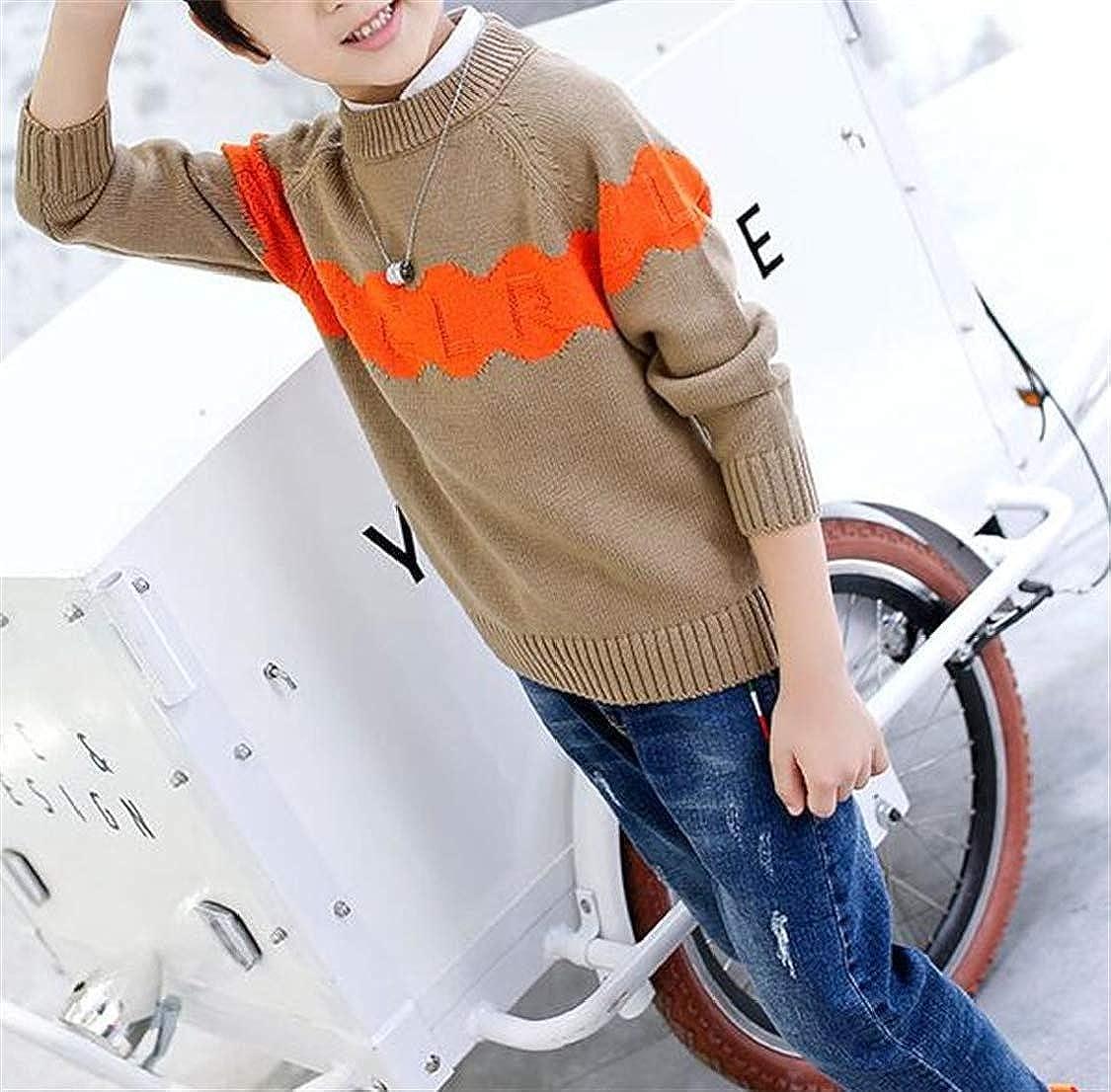 pipigo Boys Thicken Jumper Soft Pullover Knit Slim Fit Sweater