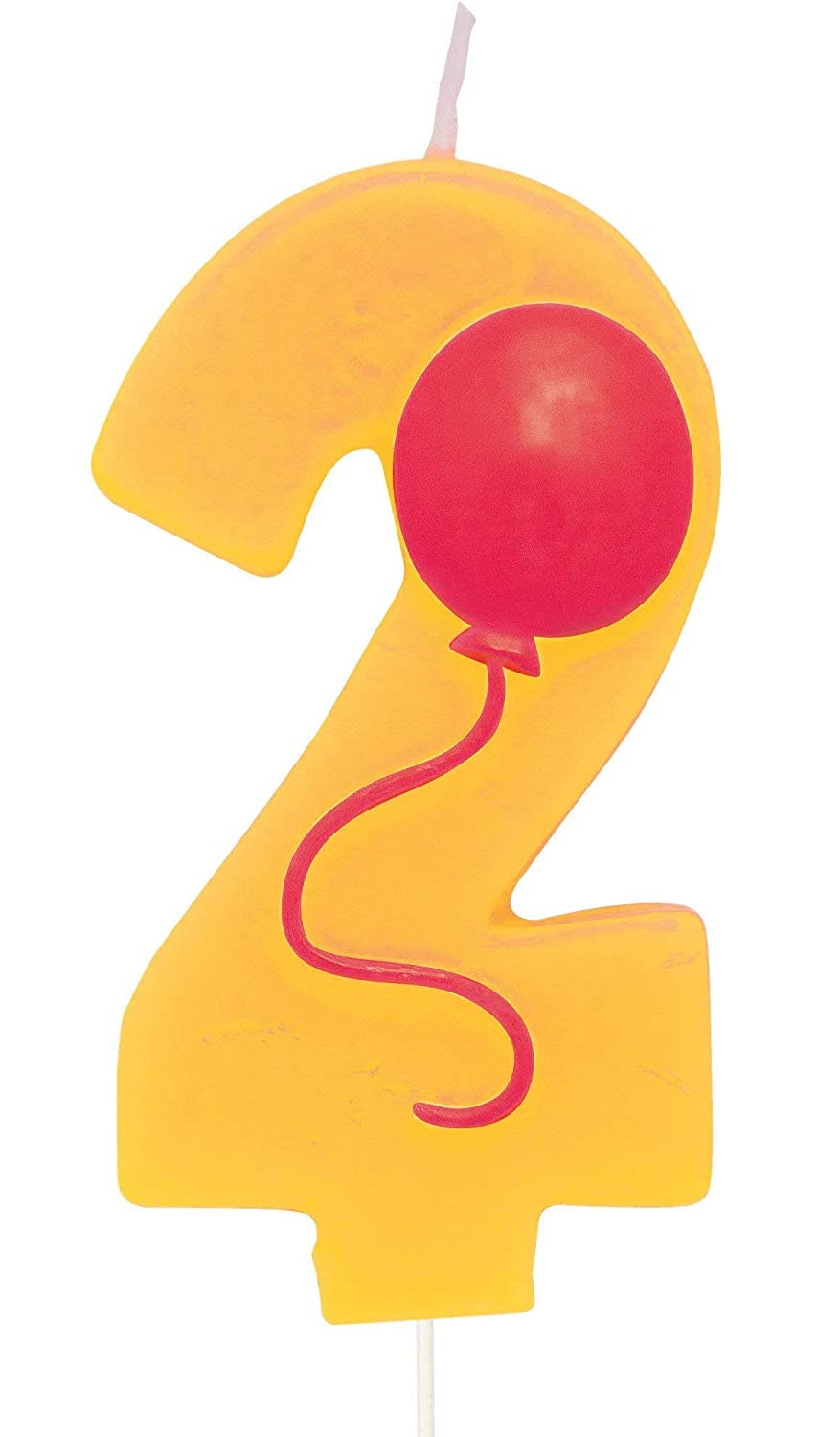 Green Number 4 Pick Candle with Balloon Party Accessory