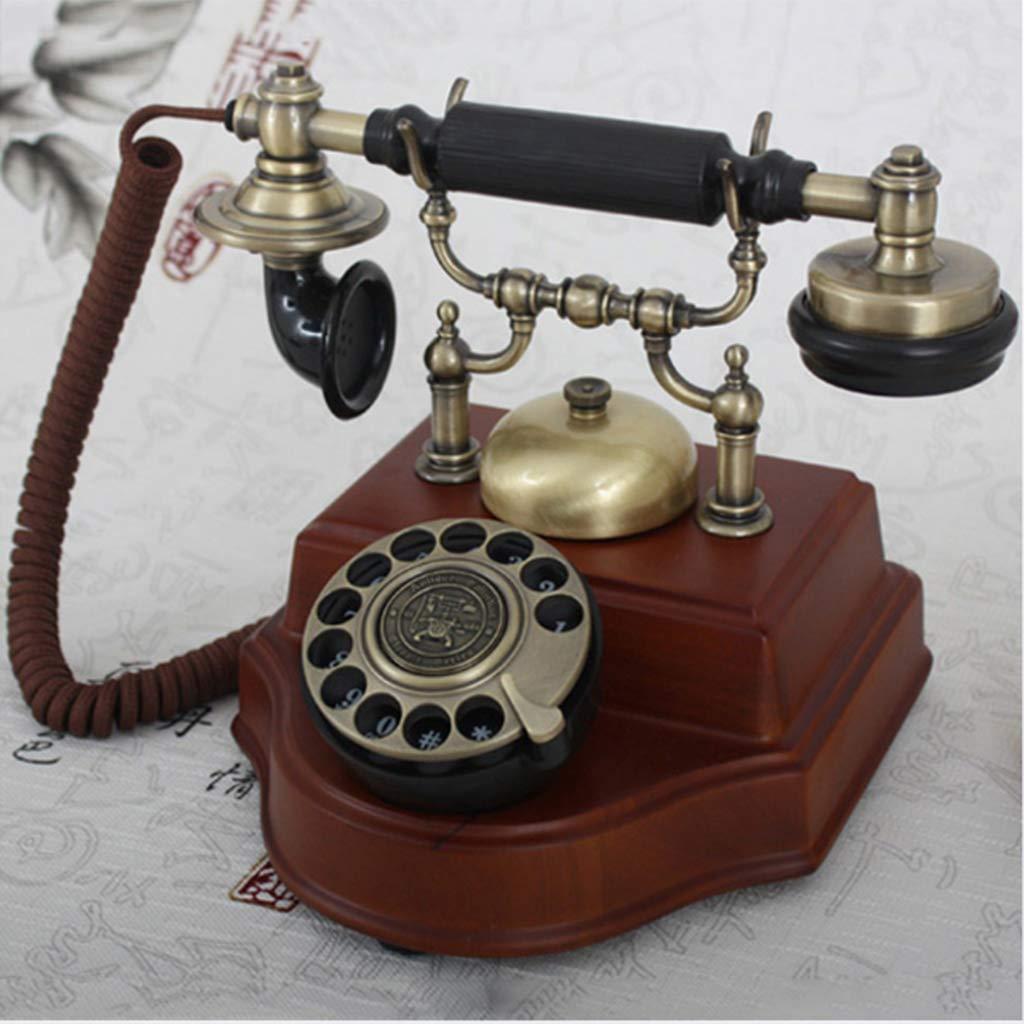 Teléfono Antiguo Máquina De Madera Maciza Retro Tocadiscos ...