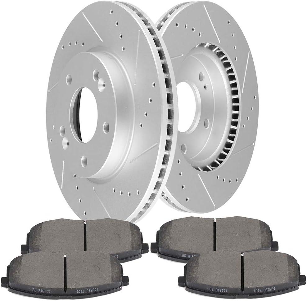 2012 2013 Fit Kia Soul OE Replacement Rotors w//Ceramic Pads F