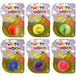 6 X Magic Twisty Wiggly Worms - REFERENCE PBF153
