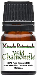 Miracle Botanicals Wild Chamomile Essential Oil - 100% Pure Ormenis Mixta - Therapeutic Grade - 2.5ml